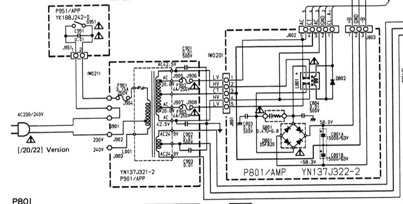 Marantz PM80 Mk2 Power Schematic