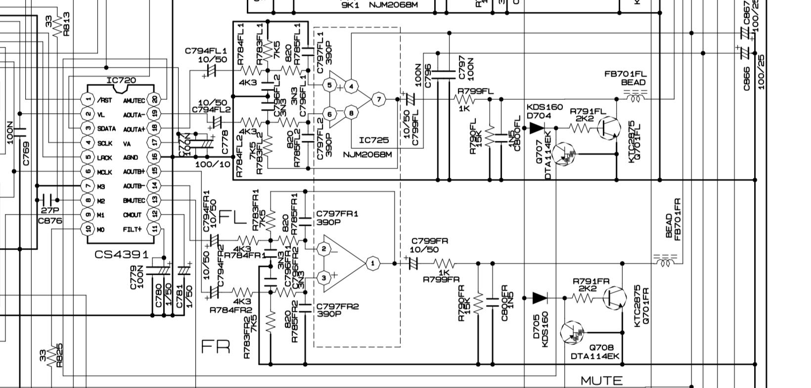 Schematic Marantiz SR5200 / IC720